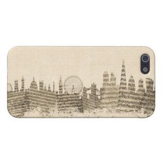 London England Skyline Sheet Music Cityscape iPhone 5 Cases