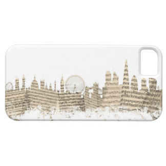 London England Skyline Sheet Music Cityscape iPhone 5 Cover