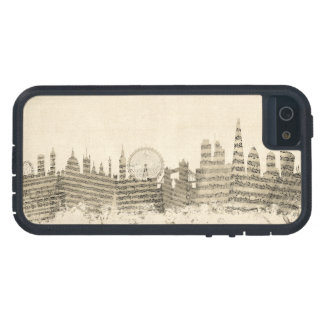 London England Skyline Sheet Music Cityscape iPhone 5 Covers