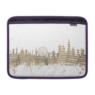 London England Skyline Sheet Music Cityscape MacBook Sleeve
