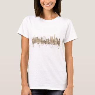 London England Skyline Sheet Music Cityscape T-Shirt