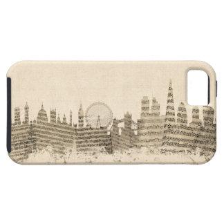 London England Skyline Sheet Music Cityscape Tough iPhone 5 Case