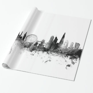 London England Skyline Wrapping Paper