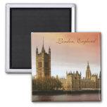 London, England Square Magnet