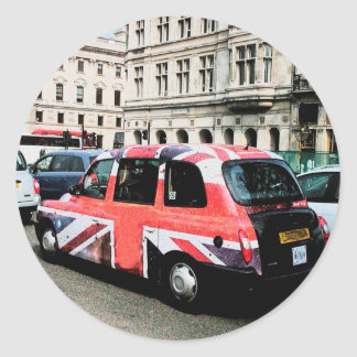London England Round Stickers