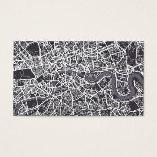 London England Street Map Art Business Card