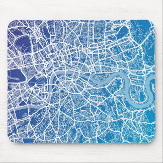 London England Street Map Art Mouse Pad