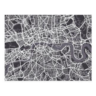 London England Street Map Art Post Card