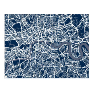 London England Street Map Art Postcards
