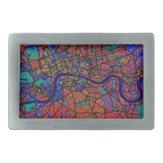 London England Street Map Belt Buckle