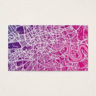 London England Street Map Business Card