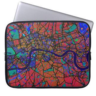 London England Street Map Laptop Sleeve