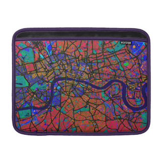 London England Street Map Sleeve For MacBook Air