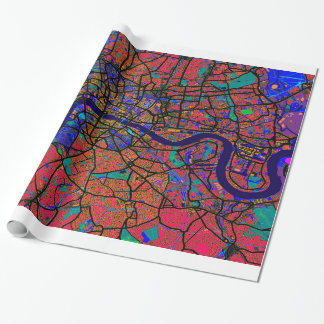 London England Street Map Wrapping Paper
