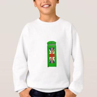 London England telephone box Green Sweatshirt