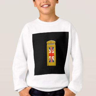 London England telephone box Yellow Sweatshirt