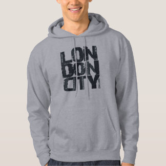 London, England Typography Hoodie