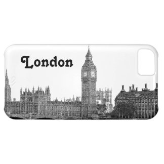 London England UK Skyline Etched Case For iPhone 5C
