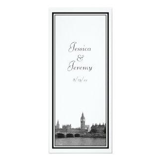 London England UK Skyline Menu Reception 10 Cm X 24 Cm Invitation Card