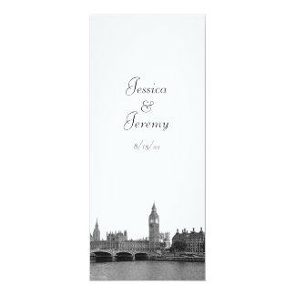 London England UK Skyline Menu Reception 10 Cm X 24 Cm Invitation Card