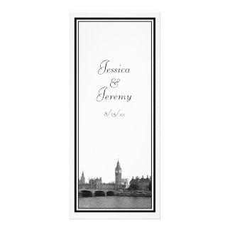 London England UK Skyline Menu Reception Personalized Invitation