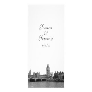 London England UK Skyline Menu Reception Personalized Announcement