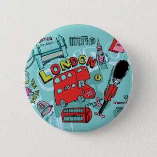 London ~ England United Kingdom Travel Art 6 Cm Round Badge
