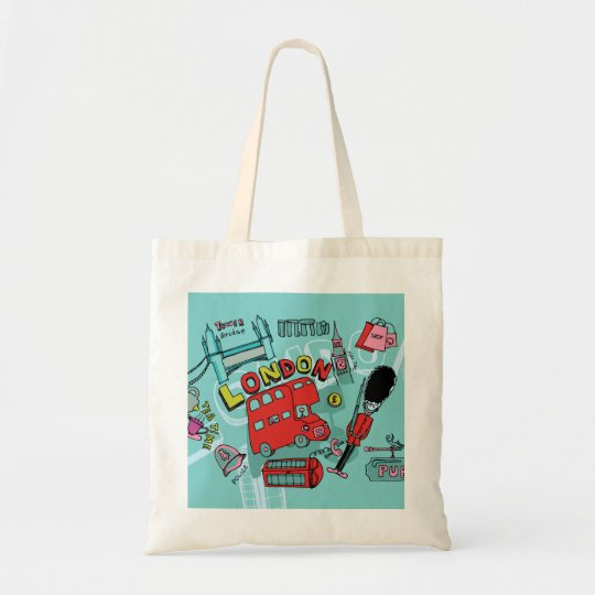 London ~ England United Kingdom Travel Art Tote