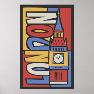 London, England | Vibrant Handrawn Design Poster