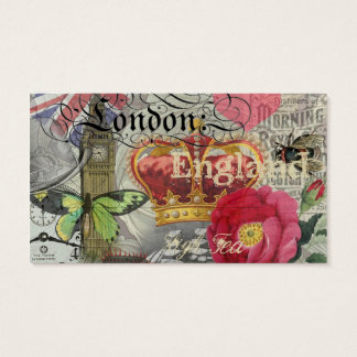 London England Vintage Travel Collage
