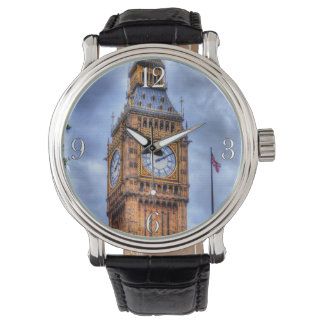 London, England's Historic Elizabeth Tower Big Ben Watch