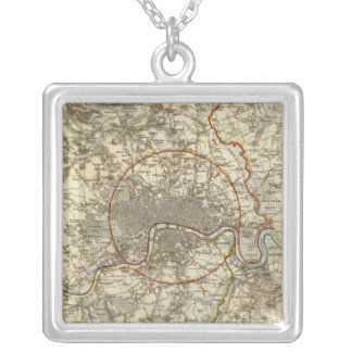 London environments silver plated necklace