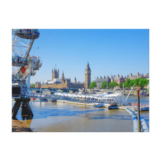 London Eye and Houses of Parliament Print