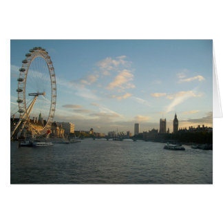 London Eye and Parliament Greeting Card