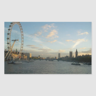 London Eye and Parliament Rectangular Sticker