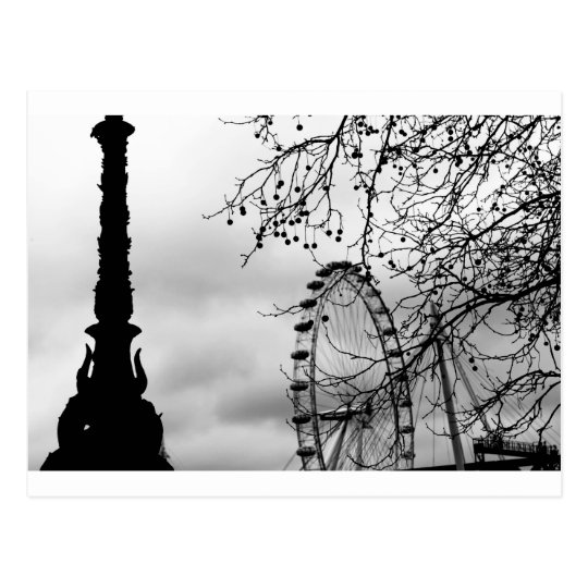 London Eye Art Background Postcard