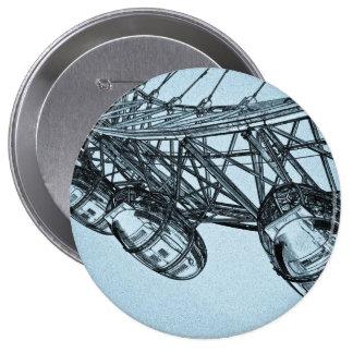 London Eye art 10 Cm Round Badge