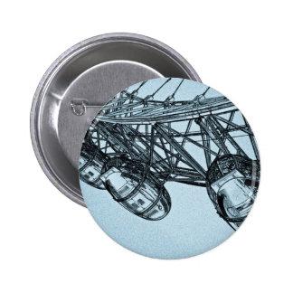 London Eye art Pinback Button