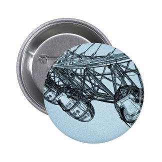 London Eye art 6 Cm Round Badge