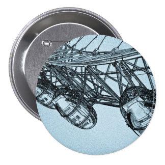 London Eye art 7.5 Cm Round Badge