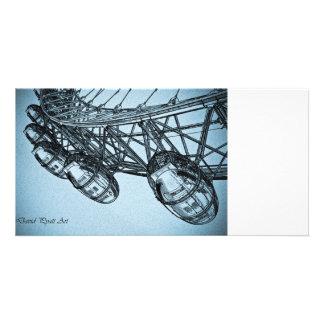 London Eye art Card