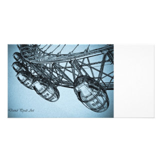 London Eye art Custom Photo Card