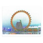 London Eye Art Postcards