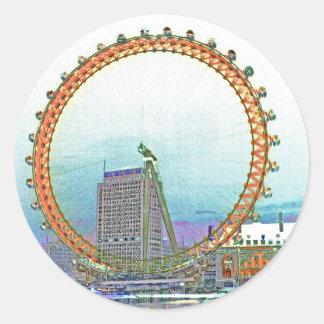 London Eye Art Round Sticker