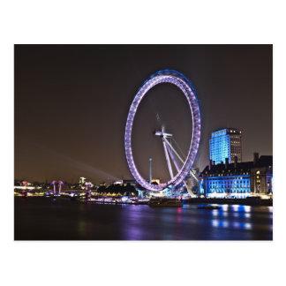 London Eye at Night Postcard