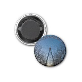 London Eye at Twilight 3 Cm Round Magnet