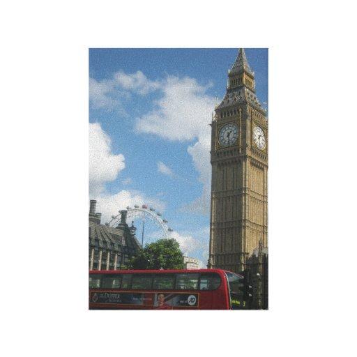 London Eye & Big Ben Stretched Canvas Print