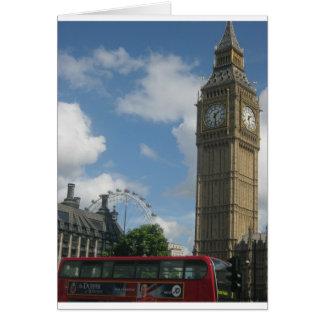 London Eye & Big Ben Card