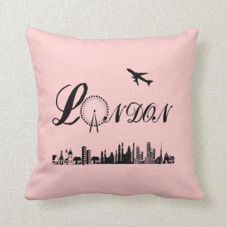London Eye British Theme Pink Pillow/Cushion Throw Pillow