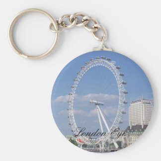London Eye  Button Keychain